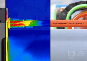 Nový materiál, který splňuje nároky pro nejnovější generace motorových a servo kabelů. (Zdroj: igus/HENNLICH)