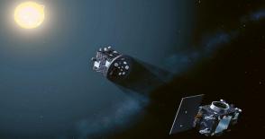 Schematické znázornění mise dvou družic Proba-3
