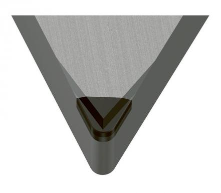 """Utvářeč třísek """"M"""" v řezné geometrii zaručuje optimální lámání třísek"""