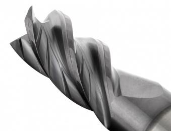 Inovativní dělič třísek na břitech snižuje řezné síly a podporuje účinný odvod třísek.