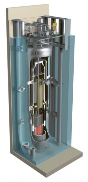 Řez předpokládanou podobou instalace tlakovodního malého modulárního reaktoru společnosti NuScale /Obr.: NuScale/