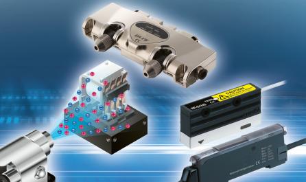 Ionizéry pro bodové i plošné odstraňování nechtěného statického náboje zajistí čistotu při popisu či svařování