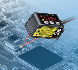 Měřicí senzor HG-C s přesností 10 μm a komunikací IO-Link