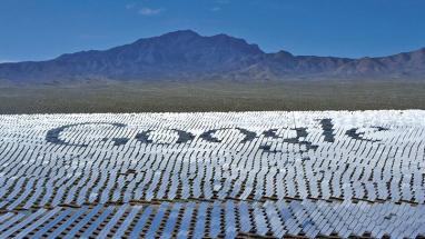 Google je spolumajitelem koncentrátorové elektrárny Ivanpah v Kalifornii Foto: Google