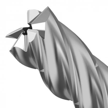 S lamači třísek, chlazením vnitřkem nástroje, zužujícím se jádrem a inovativní konstrukcí břitu je KOR 5 připraven změnit podobu obrábění hliníku