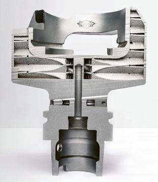 Obr. 6: Nástroj zvonového tvaru zhotovený aditivní technologií (Mapal)