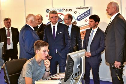 Výukové centrum přišel navštívit i pan ministr Karel Havlíček
