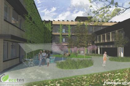 Vizualizace nové podoby školní budovy