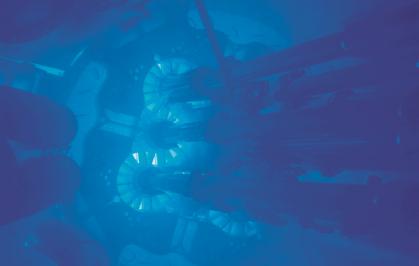 Čerenkovovo záření v chladicí kapalině atomového reaktoru