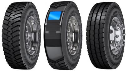 Goodyear Omnitrac D HD 315-80R22.5, Omnitrac D HD 315-80R22.5 - technologie Durashield, Goodyear Omnitrac S HD 315-80R22.5 /zleva/