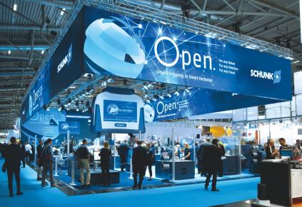 """Úspěšný B2B marketing:  Za kampaň """"Open."""" získal SCHUNK při udílení ocenění German Brand Award 2019 zlato.  Obrázek: SCHUNK"""