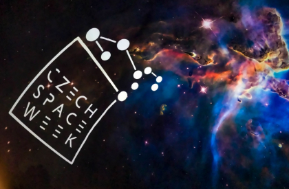 Logo Czech Space Week v Planetáriu Praha