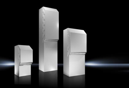 """Nové chladicí jednotky Rittal Nema 3R / 4 se stupněm krytí IP 56, energeticky úsporná technologie Blue e, možností připojení IoT interface a certifikací """"cULus Listed"""" pro zjednodušené schvalování na severoamerickém trhu a celosvětovém servisu /Zdroj: Rittal GmbH & Co. KG./"""