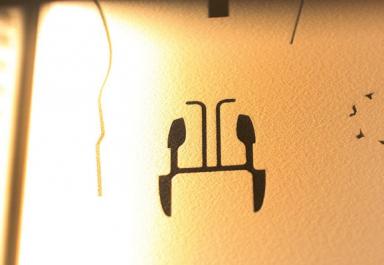Kresba laseru ve stavebním prášku