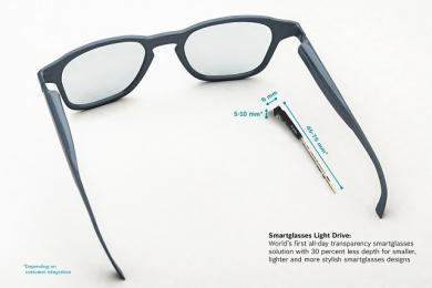 Nejmenší řešení Smartglasses Light Drive na trhu