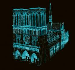 Digitální sken katedrály před požárem (prof. Tallon)