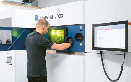 Pro vyšší produktivitu je TruPrint 2000 vybaven dvěma lasery po 300 W