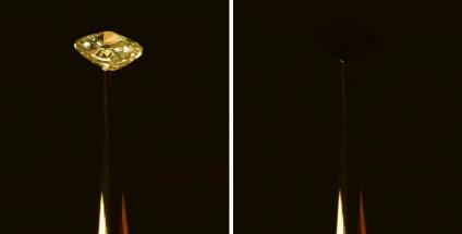 Drahokam, který se předtím blyštil jako jiné podobné diamanty, teď připomíná oko nejtemnější prázdnoty...
