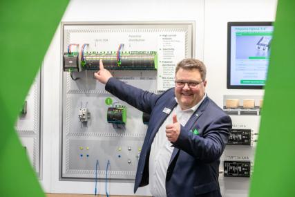 Jörg Krautter z výrobní jednotky Automatizace a energetika je vizionářem v oblasti univerzálních energetických řešení