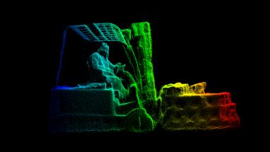 Speciální snímače na nakládacích branách pořizují během jedné sekundy až 30 záběrů projíždějícího vysokozdvižného vozíku s nákladem