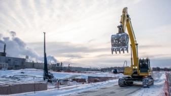 Meteorologické extrémy ovlivňují stavbu nové haly