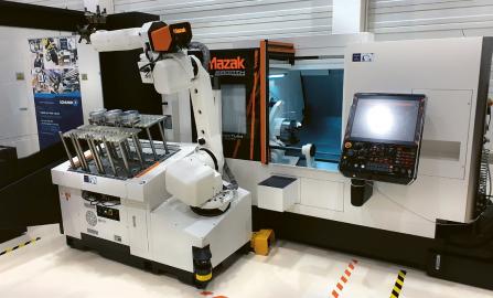Během praktické části semináře byla demonstrována automatizace zakládání a vykládání robotem s chapadly Schunk PZN