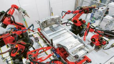 Výroba v nevadské Gigafactory společnosti Tesla