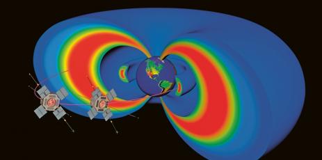 Van Allenovy radiační pásy kolem Země a Van Allenovy sondy NASA, které je studovaly mezi lety 2012 a 2019