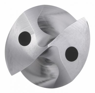 Dělená geometrie vrtáku B21*SGL má konstantně rostoucí úhel čela, který zajišťuje hladkou tvorbu třísek a snižuje řezné síly, a vnější fazetku navrženou tak, aby se předešlo vylamování.