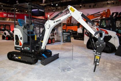 Bobcat E17e mini-excavator