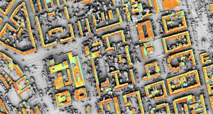 Analýza oslunění střech v Brně