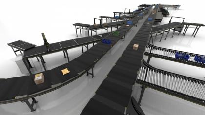Nový vysoce výkonný třídič se zkříženými pásy od firmy Interroll dokáže zpracovat až 20 000 kusů dopravovaného zboží za hodinu