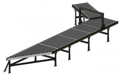Modulární platforma třídiče zahrnuje také inovativní přisunovací dopravníky