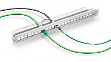 """Společnost Siemens rozšiřuje svoji nabídku kabeláže typu FastConnect o nové komponenty vhodné i pro instalační kabinety o rozměru 19"""""""