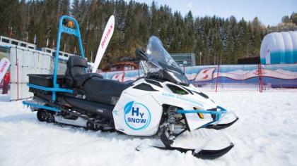 Lynx HySnow – sněžné vozidlo poháněné vodíkovými palivovými články od společnosti Rotax /Foto: BRP-Rotax GmbH & Co KG/
