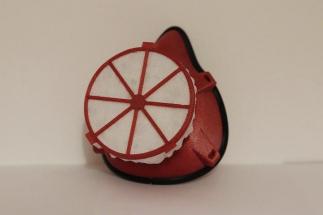 Do vytištěné masky se vkládá účinný, ale zároveň levný filtr z nanovláken