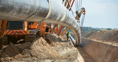 Pokládka potrubí plynovodu EUGAL v Braniborsku