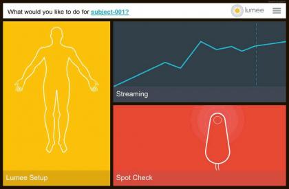 Uživatelské rozhraní Lumee Oxygen Platform