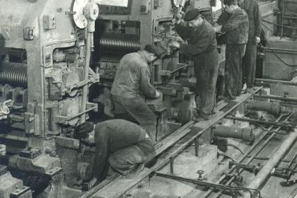 Kontidrátová trať - výstavba, 1959