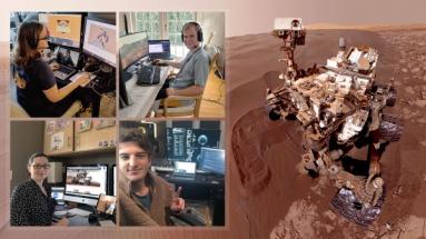 Jak je ze snímků patrné, pracují z pohodlí a bezpečí domova kvůli obavám z nakažení nebezpečným virem také pracovníci NASA
