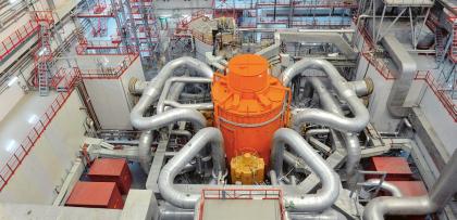 """Jaderný reaktor BN-800, větší """"bratr"""" sodíkového reaktoru BN-600 /Foto: Rosatom/"""