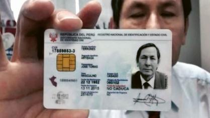 Peruánský občanský průkaz s čipem