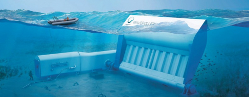 Zařízení WaveRoller přeměňuje energii mořských vln na elektrickou