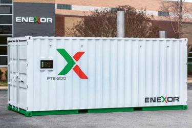 Moduly společnosti Enexor o výkonu 75 kW a tepelném výkonu 125 kW lze spojovat do sérií a řídit na dálku