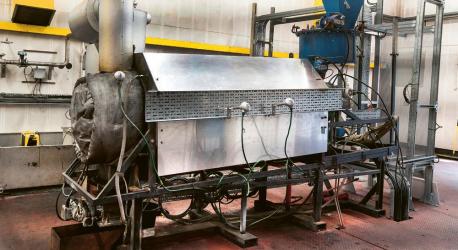 Testovací zařízení na výrobu vodíku z odpadních plastů od společnosti PowerHouse Energy Group