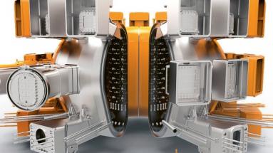 Vakuová část tokamaku ITER má mít vnitřní objem 1 400 m3, vnější průměr zhruba 19,5 m a výšku něco přes 11 m
