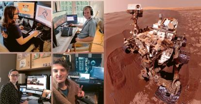 Tým NASA řídí pohyb výzkumného vozítka na Marsu ze svých domovů