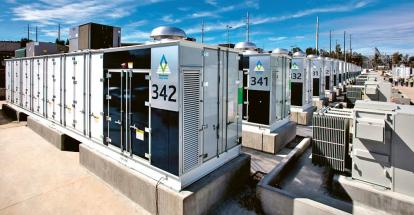 Bateriové úložiště s bateriemi Siemens