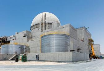 Jaderná elektrárna Barakah /Zdroj: constructionweekonline.com/