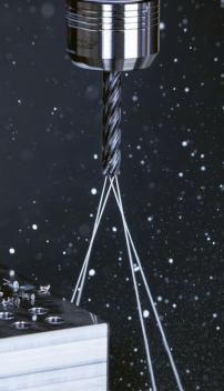 Obr. 1: Monolitní tvrdokovový vrták WTX- -HFDS se čtyřmi břity